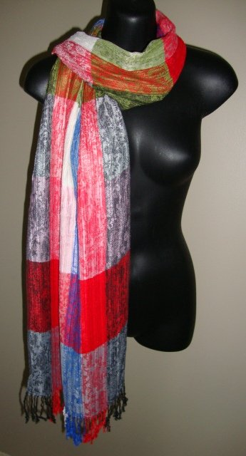 EGYPTIAN COTTON PASHMINA MULTICOLORED SCARF IMPORTED FROM EGYPT CR39 11