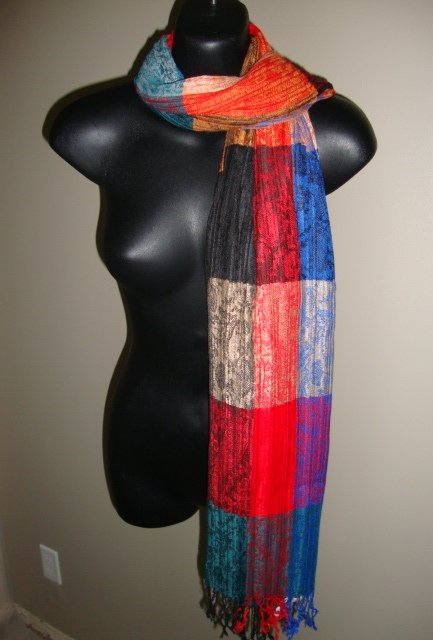 EGYPTIAN COTTON PASHMINA MULTICOLORED SCARF IMPORTED FROM EGYPT CR43 11