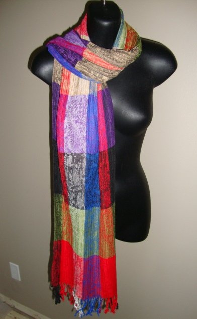EGYPTIAN COTTON PASHMINA MULTICOLORED SCARF IMPORTED FROM EGYPT CR49 11