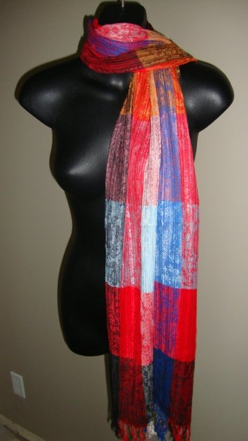 EGYPTIAN COTTON PASHMINA MULTICOLORED SCARF IMPORTED FROM EGYPT CR51 11