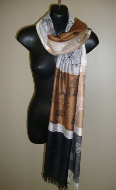 EGYPTIAN COTTON MULTICOLORED SCARF SHAWL WRAP IMPORTED FROM EGYPT CT96 11