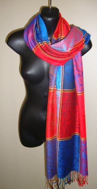 EGYPTIAN COTTON MULTICOLORED SCARF SHAWL WRAP IMPORTED FROM EGYPT CT99 11