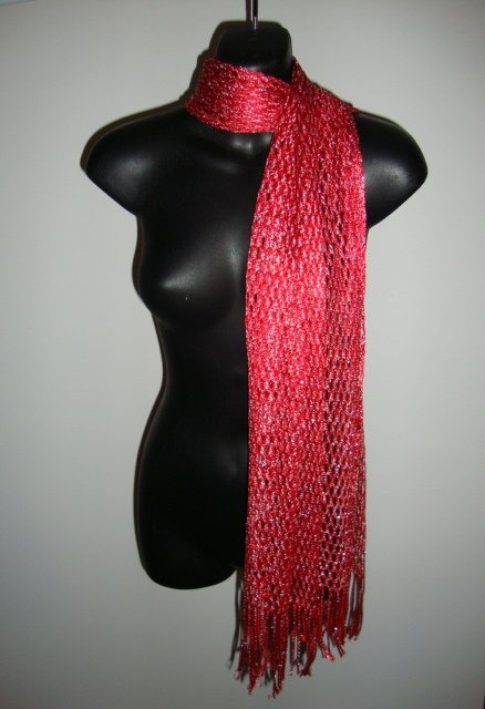 MULTI USE SCARF WRAP IMPORTED FROM EGYPT N10 10  RED