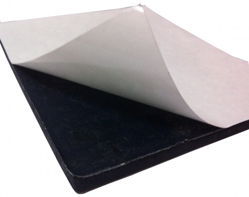 Adhesive back latex rubber sheeting