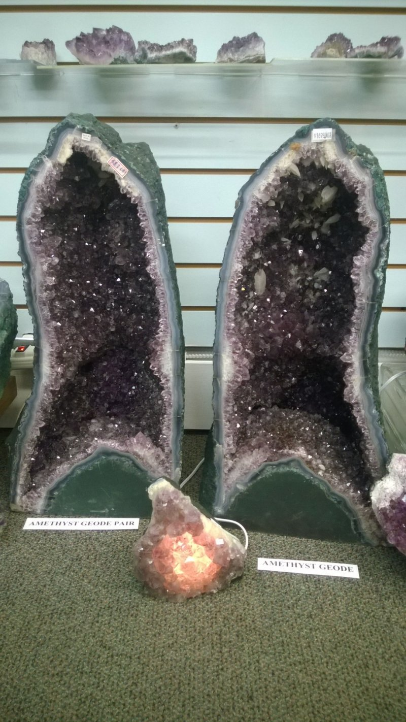 Amethyst Cathedral Pair - 22 inches tall