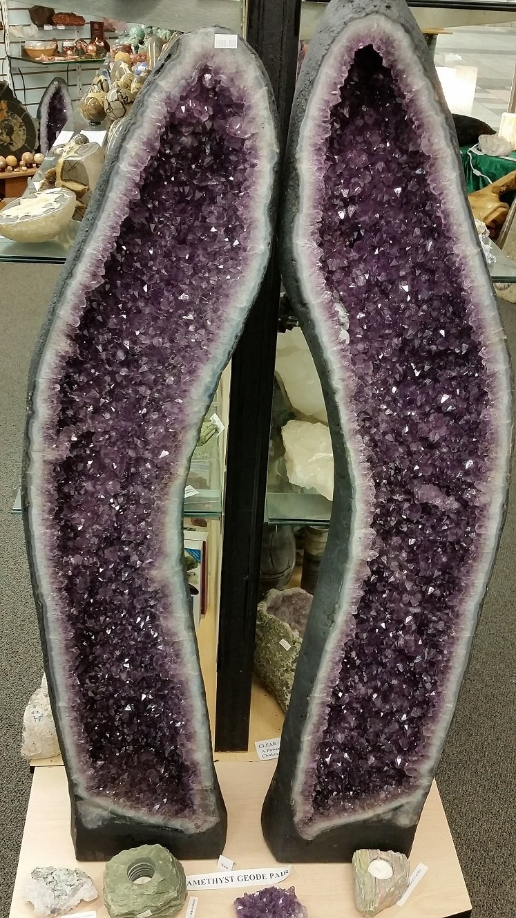 Amethyst Cathedral Pair - 48 inches Tall
