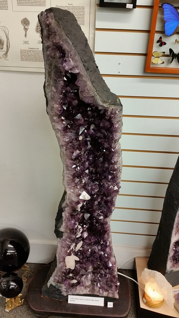 Image 0 of Amethyst Cathedral Freeform with Wood Base