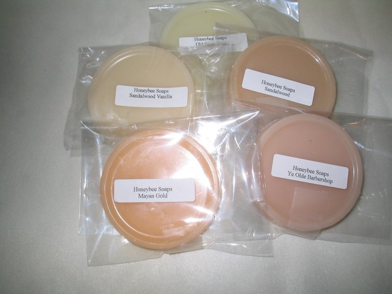 1 oz Moisturizing Shea Butter Shaving Soap Samples