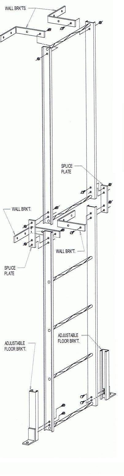 Image 0 of Modular Pit Ladder - Adjustable to any height