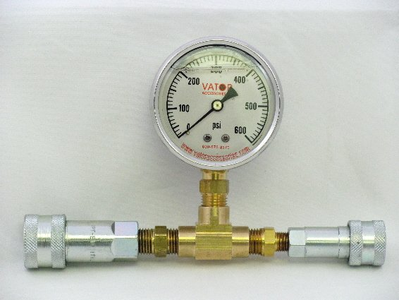 Image 0 of LPGAT-3000 Liquid Pressure Gauge w/ Dual Quick Couplers