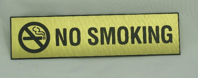 Image 0 of NS-82-BRNZ No Smoking Sign 8''W x 2''H Bronze Look Plastic