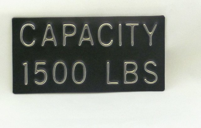 Image 0 of CPB-1500 Capacity Plate 1500 lbs, 4''W x 2''H