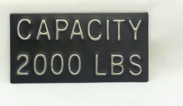 Image 0 of CPB-2000 Capacity Plate 2000 lbs, 4''W x 2''H