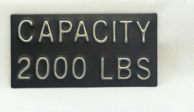 CPB-2000 Capacity Plate 2000 lbs, 4''W x 2''H