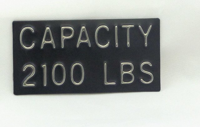 Image 0 of CPB-2100 Capacity Plate 2100 lbs, 4''W x 2''H