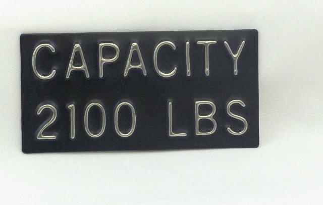 CPB-2100 Capacity Plate 2100 lbs, 4''W x 2''H