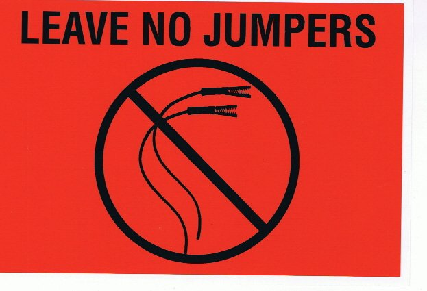 Image 0 of LNJ - LEAVE NO JUMPERS LABEL