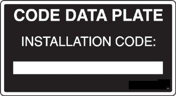 DT CDP CODE DATA PLATE