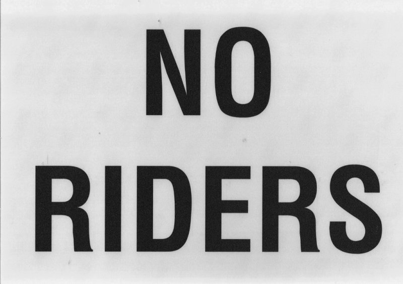 Image 0 of EDS-NR  NO RIDERS