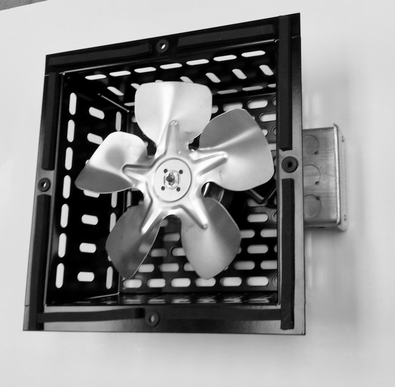 Fan-F2SQ Two Speed Elevator Exhaust Fan, 12'' x 12'' Square
