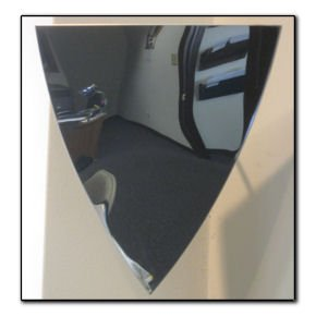 Image 0 of Elevator Mirror, Stainless Steel 10'' Triangular Mirror