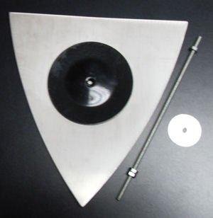 Image 1 of Elevator Mirror, Stainless Steel 10'' Triangular Mirror