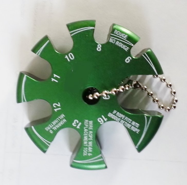Image 1 of Wire Rope Gauge - Metric