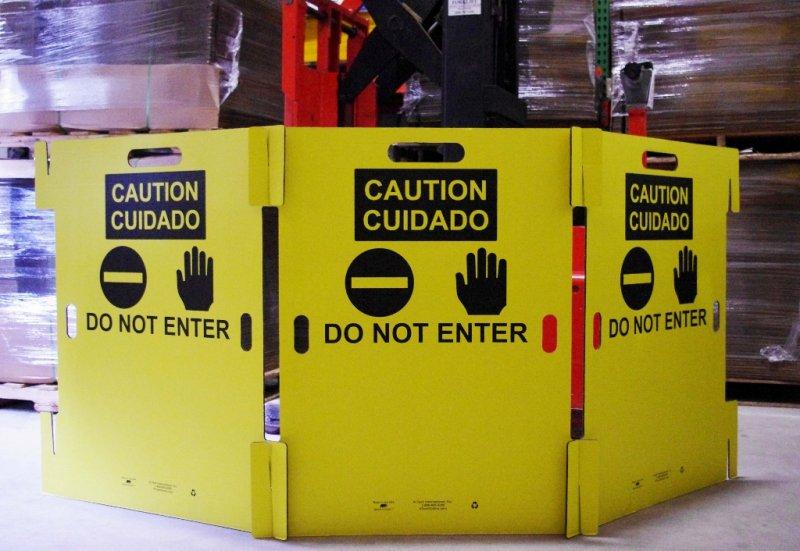 Safety Barricade   6mm Corrugated Cardboard  42  H x 36