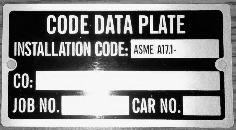 Image 0 of DT-CDPINSTL CODE DATA PLATE