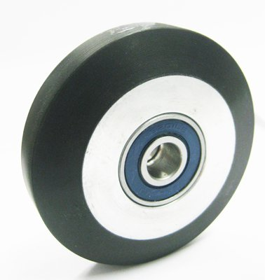 GR-MIS143S ROLLER GUIDE WHEEL, SOFT POLY, 3-1/4'' O.D.