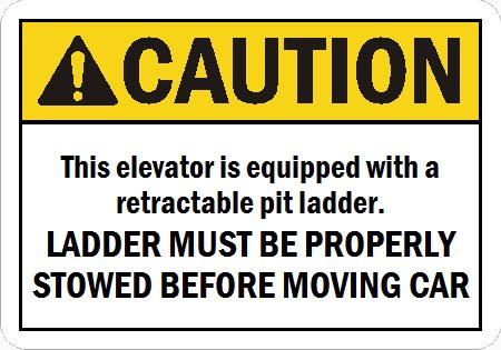 Image 0 of EDS-RL CAUTION SIGN FOR RETRACTABLE LADDER 10X7 PLASTIC