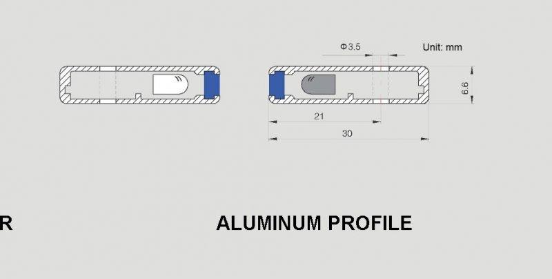 Image 2 of DD-957SIX-24 WECO SUPER SLIM Elevator Door Detector (light curtain/safety edge)