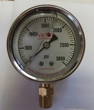 Liquid Pressure Gauge 3000 PSI, Gauge Only