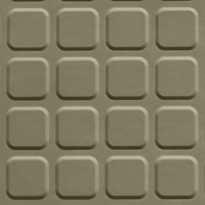 RUBBER TILE   RAISED SQUARE SURFACE
