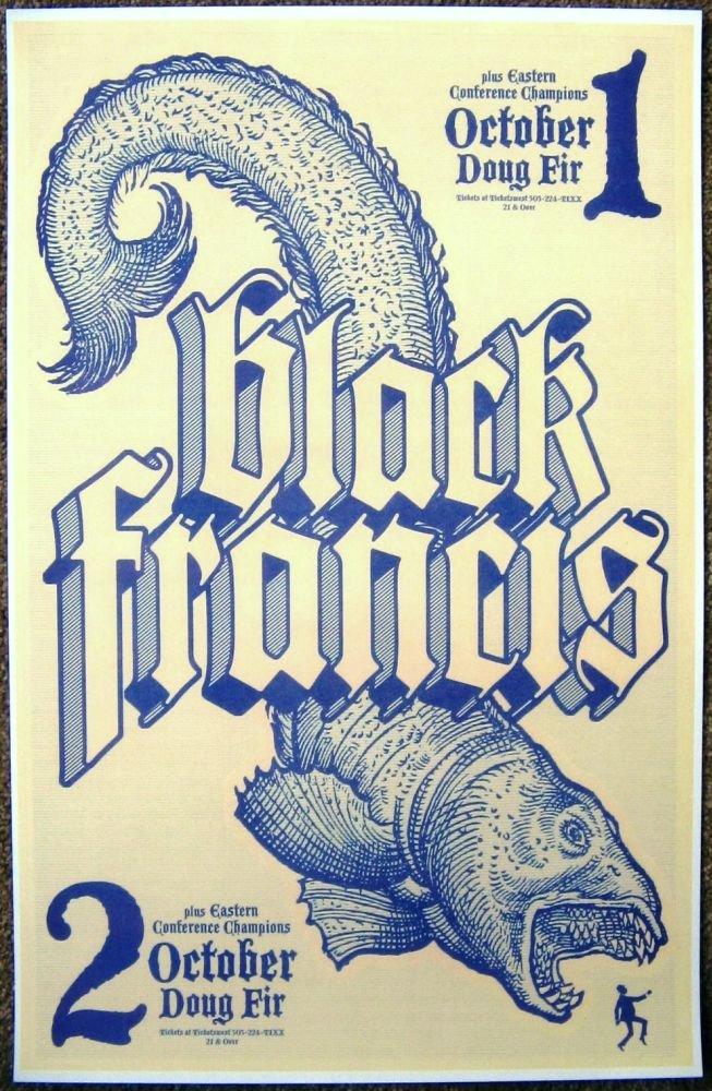 Image 0 of Black FRANK BLACK FRANCIS 2007 Gig POSTER Portland Oregon Concert