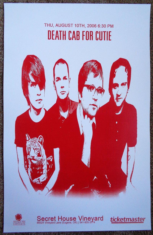 Image 0 of DEATH CAB FOR CUTIE 2006 Gig POSTER Eugene Oregon Concert