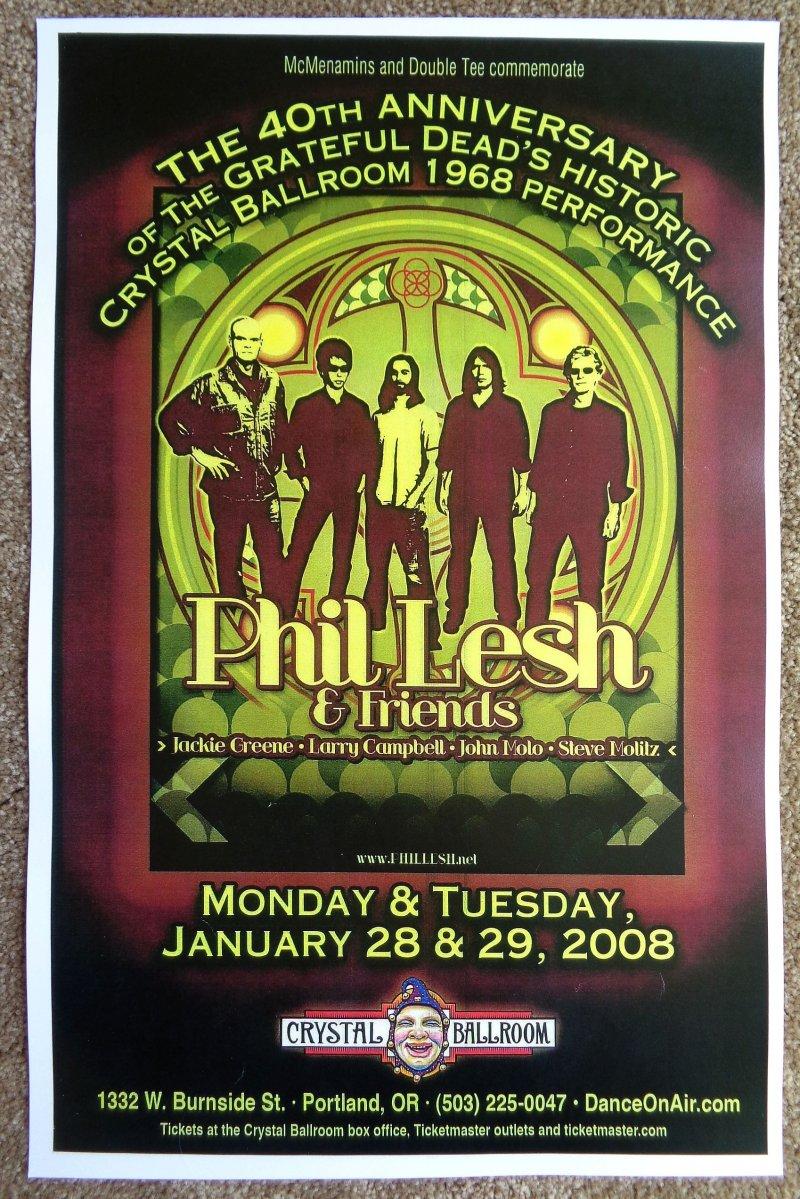 Image 0 of Lesh PHIL LESH Grateful Dead 2008 POSTER Gig Portland Oregon Concert
