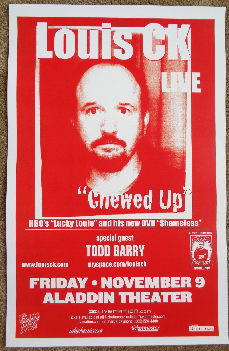 Image 0 of LOUIS CK 2007 Gig POSTER Portland Oregon Comedy
