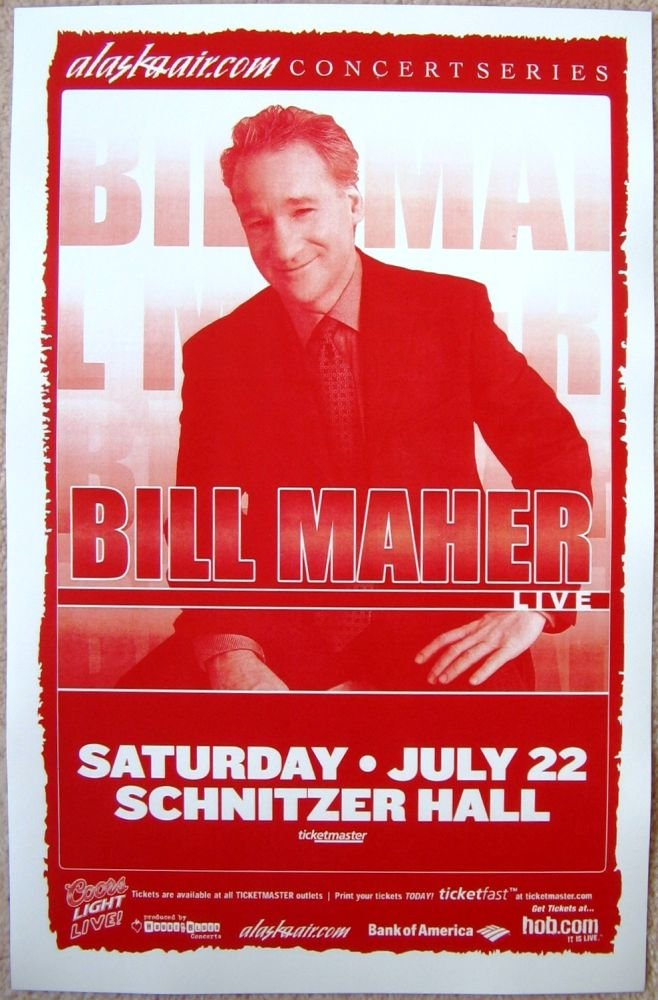 Image 0 of Maher BILL MAHER 2006 Gig POSTER Portland Oregon Comedy