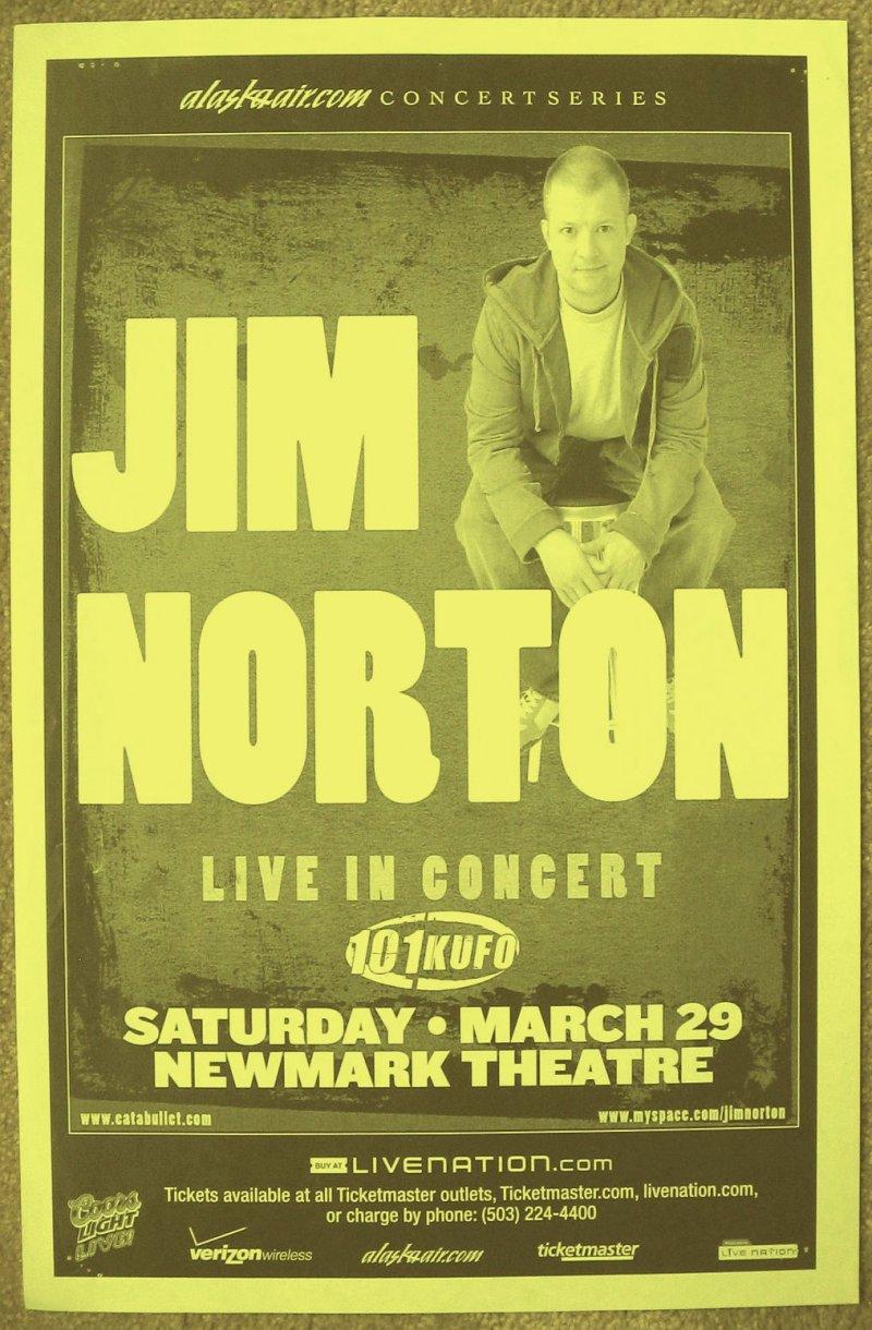 Image 0 of Norton JIM NORTON 2008 Gig POSTER Portland Oregon Comedy
