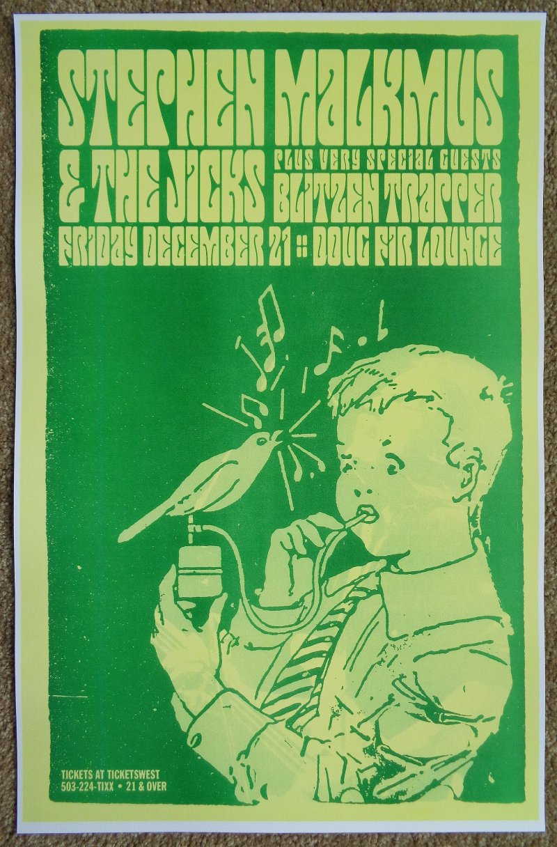 Image 0 of Malkmus STEPHEN MALKMUS And THE JICKS Gig POSTER Dec 07 Portland Oregon Concert