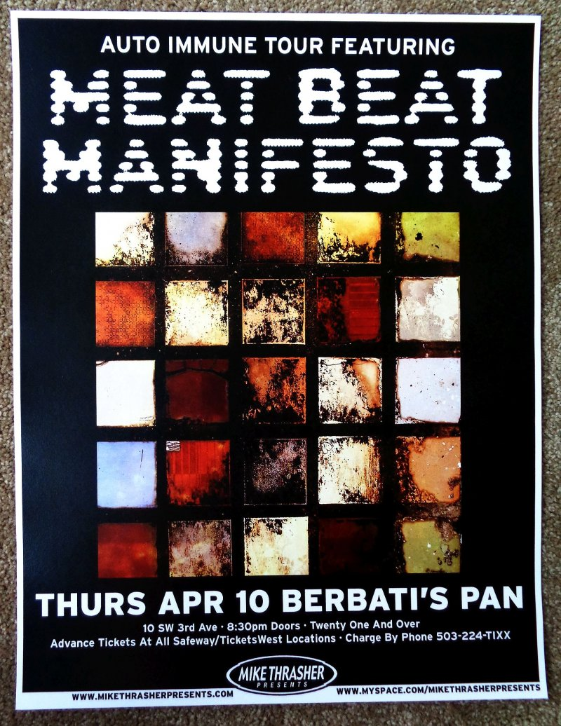 Image 0 of MEAT BEAT MANIFESTO 2008 Gig POSTER Portland Oregon Concert