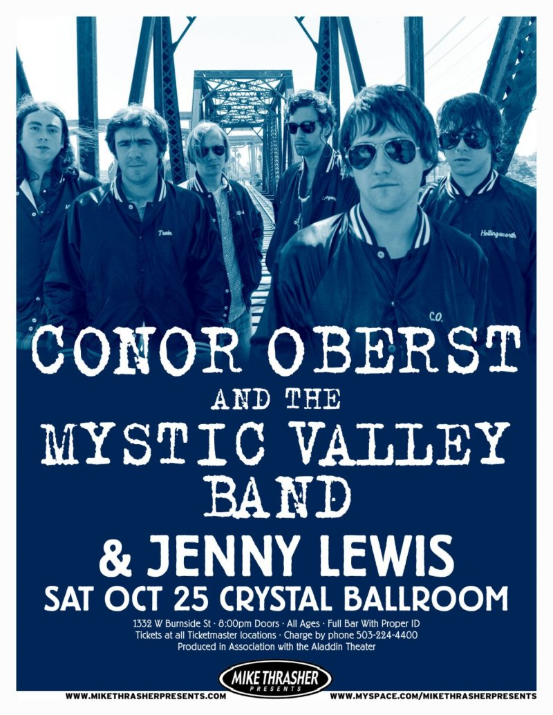 Image 0 of Oberst CONOR OBERST 2008 Gig POSTER Bright Eyes Mystic Valley Oregon Concert