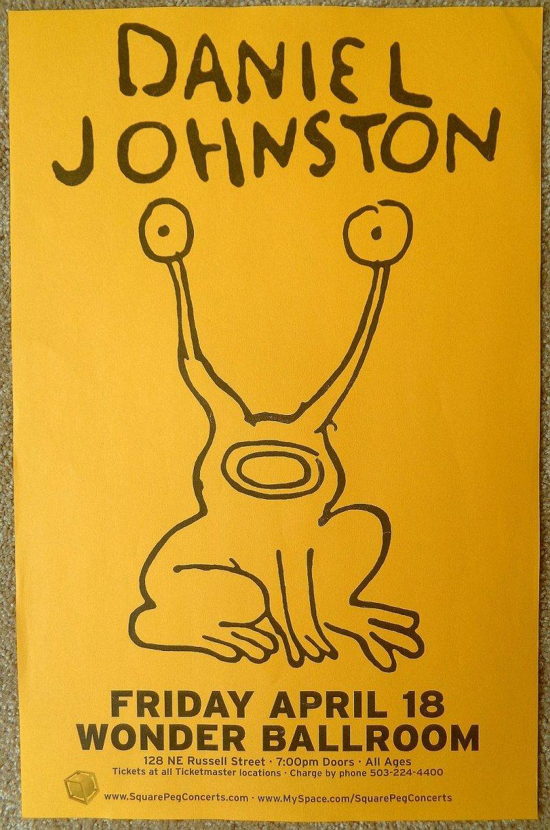 Image 0 of Johnston DANIEL JOHNSTON Gig POSTER Portland Oregon April 18 2008 Concert