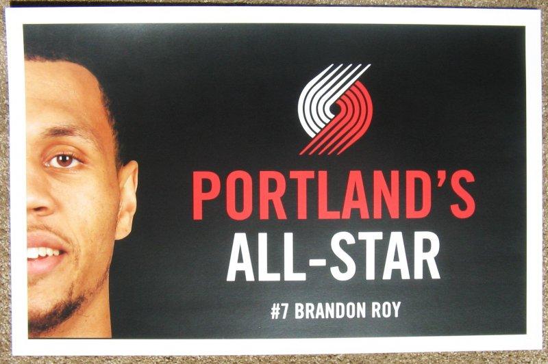 ROY Brandon ROY 2008 POSTER Game Handout All-Star Portland Trailblazers Blazers