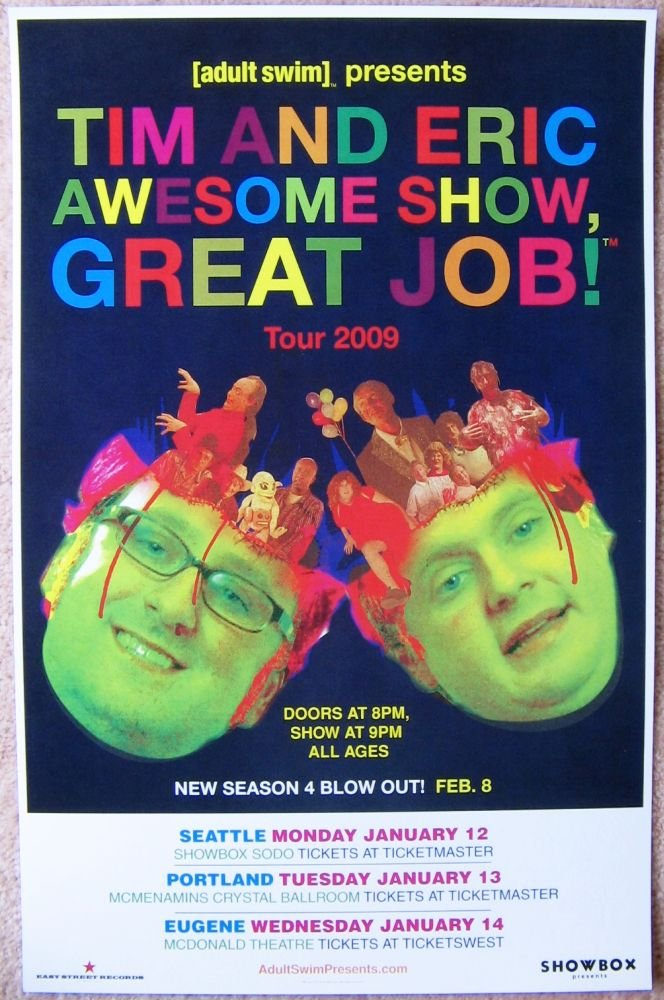 Image 0 of TIM And ERIC 2009 Gig POSTER Seattle & Portland Oregon Comedy