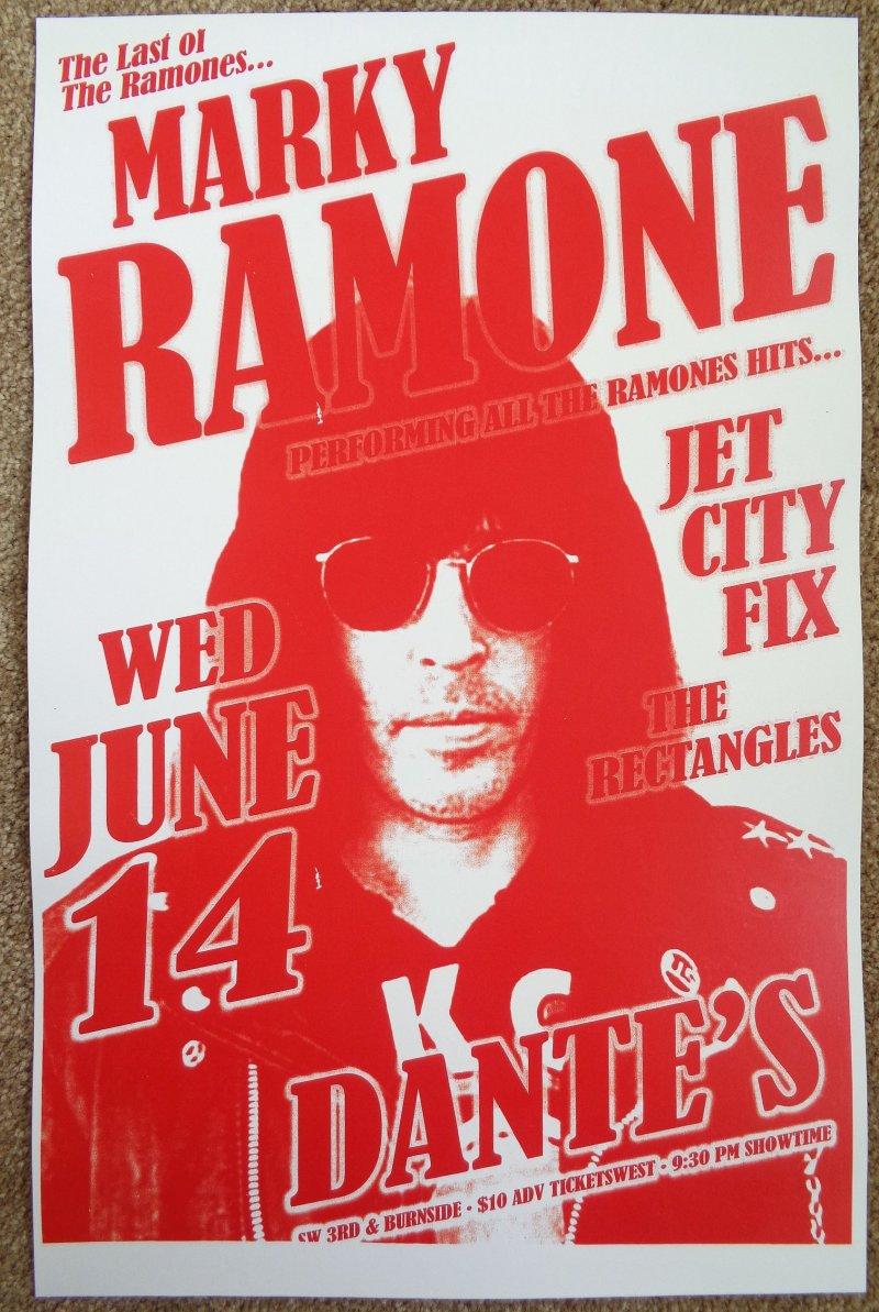 Ramone MARKY RAMONE 2006 Gig POSTER of THE RAMONES Portland Oregon Concert