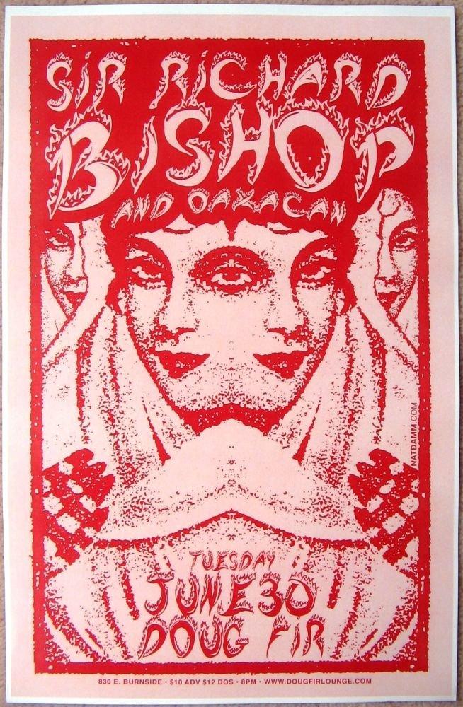 Bishop SIR RICHARD BISHOP Sun City Girls Portland Oregon 2009 Gig Concert POSTER