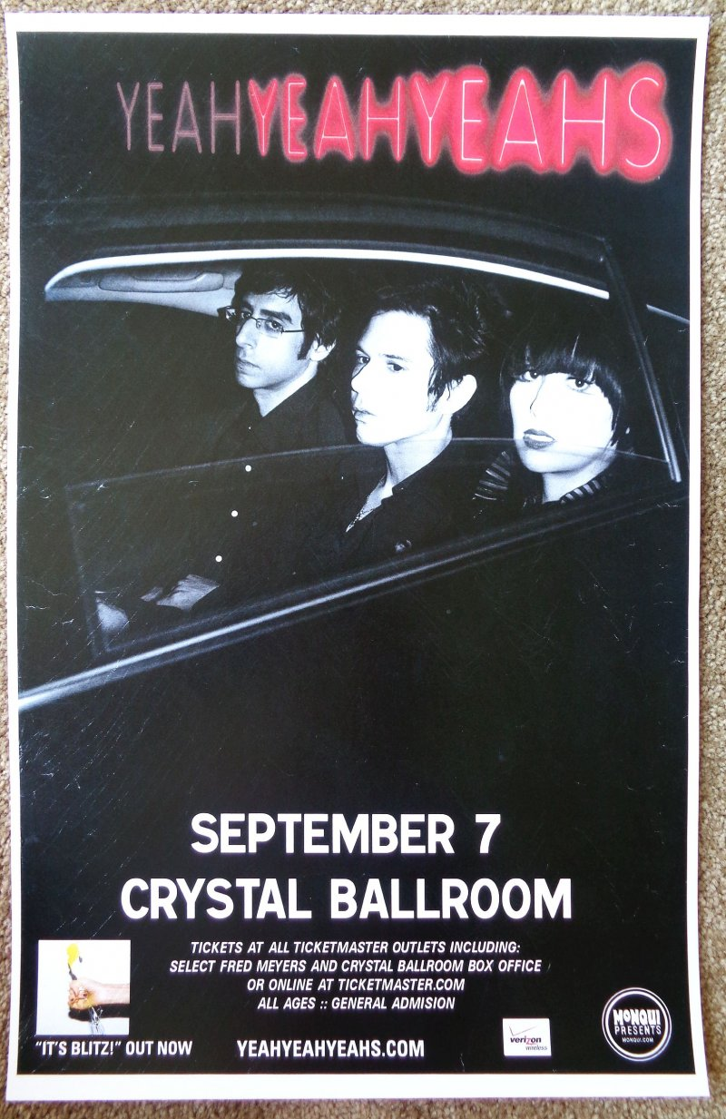 Image 0 of YEAH YEAH YEAHS 2009 Gig POSTER Portland Oregon Concert