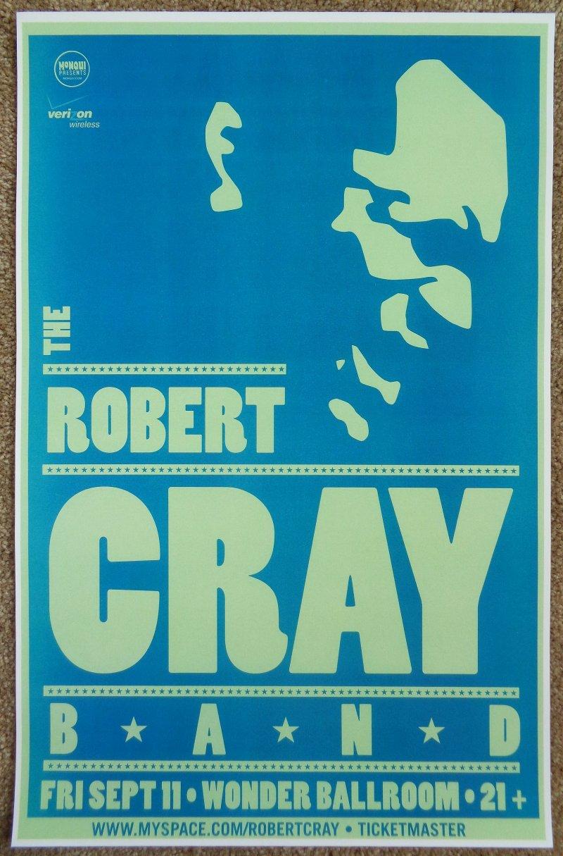 Image 0 of Cray ROBERT CRAY BAND 2009 Gig POSTER Portland Oregon Concert